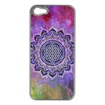 Flower Of Life Indian Ornaments Mandala Universe Apple iPhone 5 Case (Silver) Front