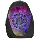 Flower Of Life Indian Ornaments Mandala Universe Backpack Bag Front