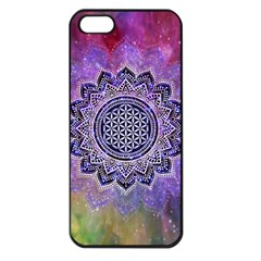Flower Of Life Indian Ornaments Mandala Universe Apple Iphone 5 Seamless Case (black)