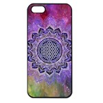 Flower Of Life Indian Ornaments Mandala Universe Apple iPhone 5 Seamless Case (Black) Front