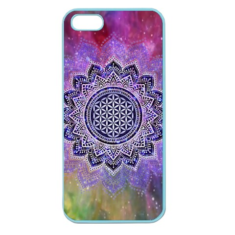 Flower Of Life Indian Ornaments Mandala Universe Apple Seamless iPhone 5 Case (Color)