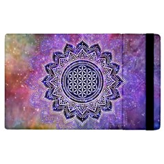 Flower Of Life Indian Ornaments Mandala Universe Apple iPad 2 Flip Case