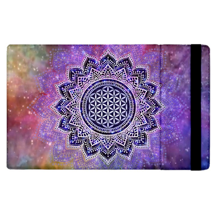 Flower Of Life Indian Ornaments Mandala Universe Apple iPad 3/4 Flip Case