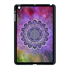 Flower Of Life Indian Ornaments Mandala Universe Apple iPad Mini Case (Black)