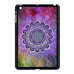 Flower Of Life Indian Ornaments Mandala Universe Apple iPad Mini Case (Black) Front