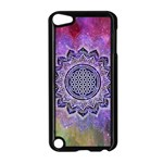 Flower Of Life Indian Ornaments Mandala Universe Apple iPod Touch 5 Case (Black) Front