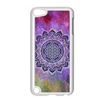 Flower Of Life Indian Ornaments Mandala Universe Apple iPod Touch 5 Case (White) Front
