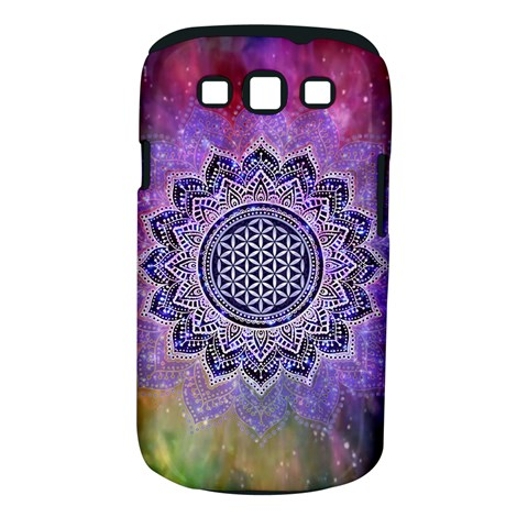 Flower Of Life Indian Ornaments Mandala Universe Samsung Galaxy S III Classic Hardshell Case (PC+Silicone)