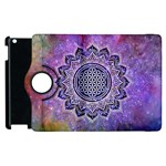 Flower Of Life Indian Ornaments Mandala Universe Apple iPad 2 Flip 360 Case Front