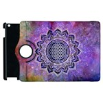 Flower Of Life Indian Ornaments Mandala Universe Apple iPad 3/4 Flip 360 Case Front