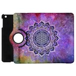 Flower Of Life Indian Ornaments Mandala Universe Apple iPad Mini Flip 360 Case Front