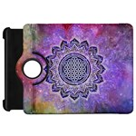Flower Of Life Indian Ornaments Mandala Universe Kindle Fire HD Flip 360 Case Front
