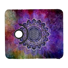 Flower Of Life Indian Ornaments Mandala Universe Samsung Galaxy S  III Flip 360 Case