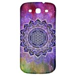 Flower Of Life Indian Ornaments Mandala Universe Samsung Galaxy S3 S III Classic Hardshell Back Case Front