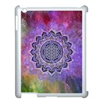 Flower Of Life Indian Ornaments Mandala Universe Apple iPad 3/4 Case (White) Front
