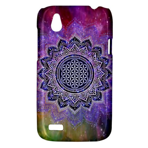 Flower Of Life Indian Ornaments Mandala Universe HTC Desire V (T328W) Hardshell Case