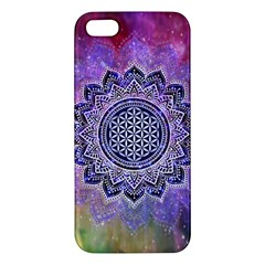 Flower Of Life Indian Ornaments Mandala Universe Apple Iphone 5 Premium Hardshell Case