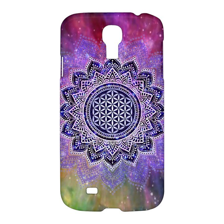 Flower Of Life Indian Ornaments Mandala Universe Samsung Galaxy S4 I9500/I9505 Hardshell Case