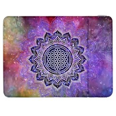 Flower Of Life Indian Ornaments Mandala Universe Samsung Galaxy Tab 7  P1000 Flip Case