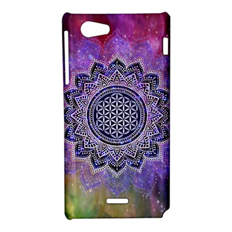 Flower Of Life Indian Ornaments Mandala Universe Sony Xperia J