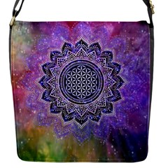 Flower Of Life Indian Ornaments Mandala Universe Flap Messenger Bag (s)