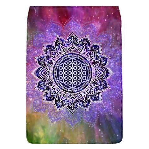 Flower Of Life Indian Ornaments Mandala Universe Flap Covers (S)