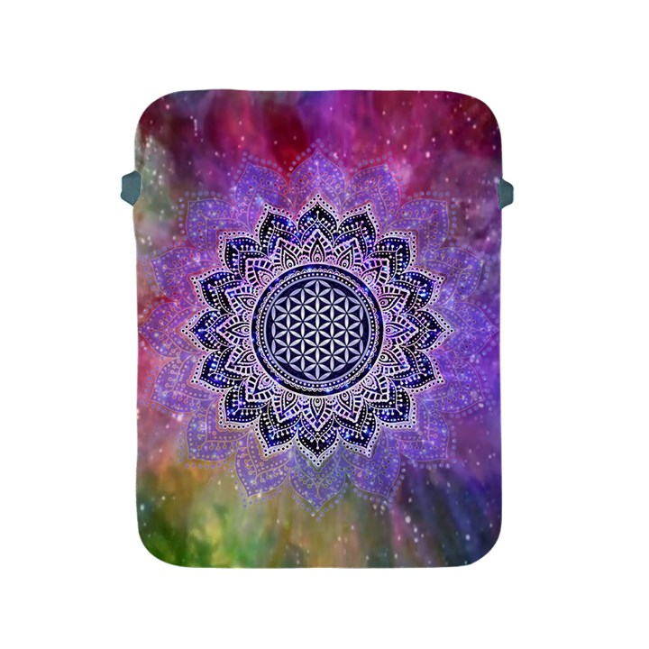 Flower Of Life Indian Ornaments Mandala Universe Apple iPad 2/3/4 Protective Soft Cases