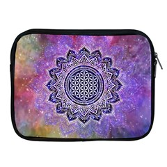 Flower Of Life Indian Ornaments Mandala Universe Apple Ipad 2/3/4 Zipper Cases