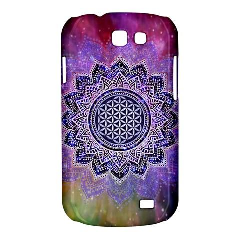 Flower Of Life Indian Ornaments Mandala Universe Samsung Galaxy Express I8730 Hardshell Case