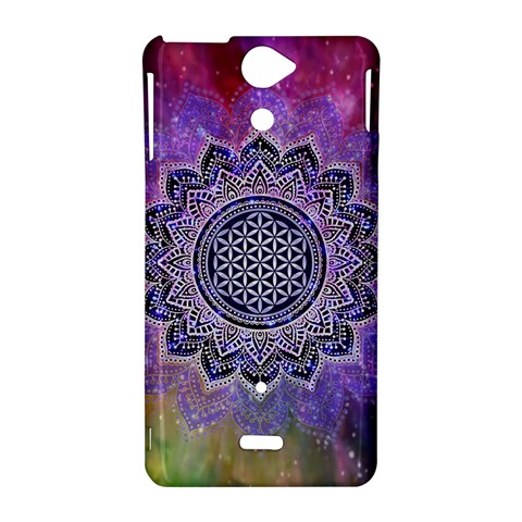 Flower Of Life Indian Ornaments Mandala Universe Sony Xperia V