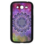 Flower Of Life Indian Ornaments Mandala Universe Samsung Galaxy Grand DUOS I9082 Case (Black) Front