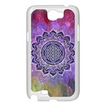 Flower Of Life Indian Ornaments Mandala Universe Samsung Galaxy Note 2 Case (White) Front