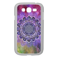 Flower Of Life Indian Ornaments Mandala Universe Samsung Galaxy Grand Duos I9082 Case (white)