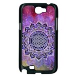 Flower Of Life Indian Ornaments Mandala Universe Samsung Galaxy Note 2 Case (Black) Front