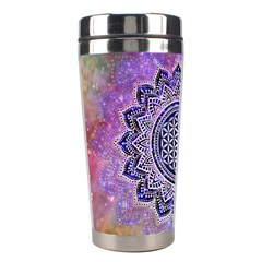 Flower Of Life Indian Ornaments Mandala Universe Stainless Steel Travel Tumblers