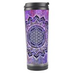 Flower Of Life Indian Ornaments Mandala Universe Travel Tumbler Center