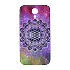 Flower Of Life Indian Ornaments Mandala Universe Samsung Galaxy S4 I9500/I9505  Hardshell Back Case