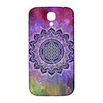 Flower Of Life Indian Ornaments Mandala Universe Samsung Galaxy S4 I9500/I9505  Hardshell Back Case Front