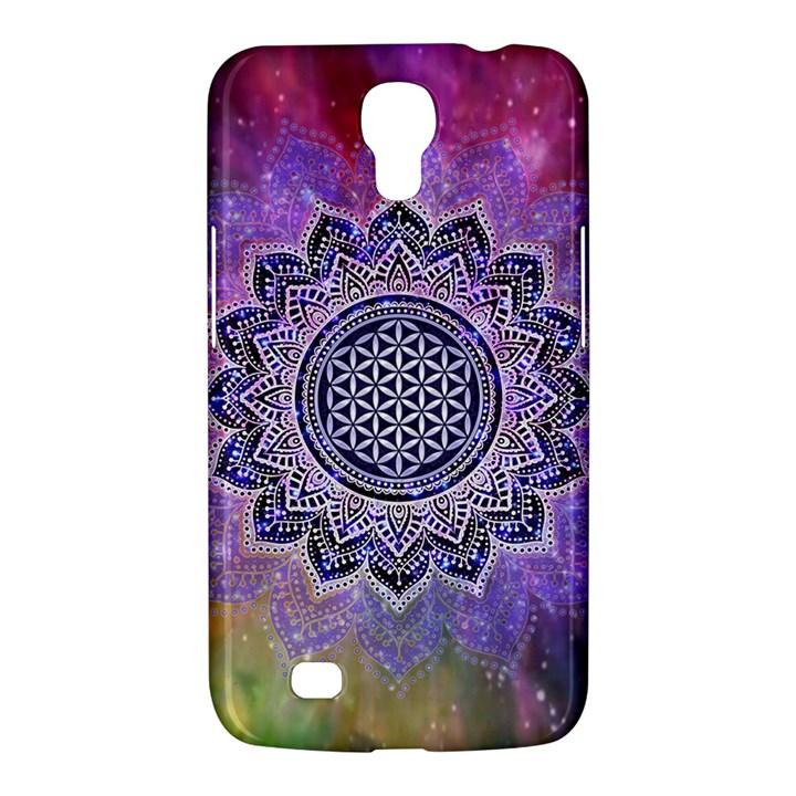 Flower Of Life Indian Ornaments Mandala Universe Samsung Galaxy Mega 6.3  I9200 Hardshell Case
