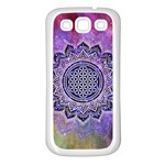 Flower Of Life Indian Ornaments Mandala Universe Samsung Galaxy S3 Back Case (White) Front