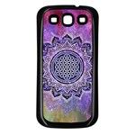 Flower Of Life Indian Ornaments Mandala Universe Samsung Galaxy S3 Back Case (Black) Front