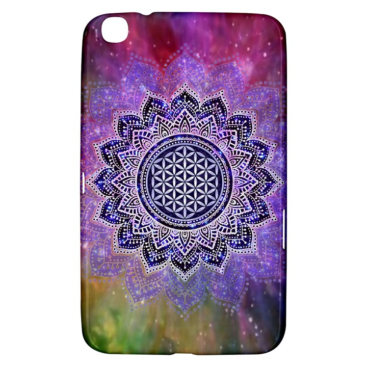 Flower Of Life Indian Ornaments Mandala Universe Samsung Galaxy Tab 3 (8 ) T3100 Hardshell Case