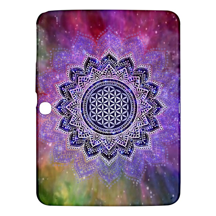 Flower Of Life Indian Ornaments Mandala Universe Samsung Galaxy Tab 3 (10.1 ) P5200 Hardshell Case