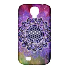 Flower Of Life Indian Ornaments Mandala Universe Samsung Galaxy S4 Classic Hardshell Case (PC+Silicone)