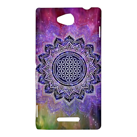 Flower Of Life Indian Ornaments Mandala Universe Sony Xperia C (S39H)