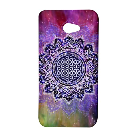 Flower Of Life Indian Ornaments Mandala Universe HTC Butterfly S/HTC 9060 Hardshell Case