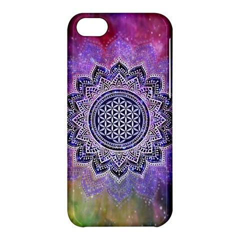 Flower Of Life Indian Ornaments Mandala Universe Apple iPhone 5C Hardshell Case