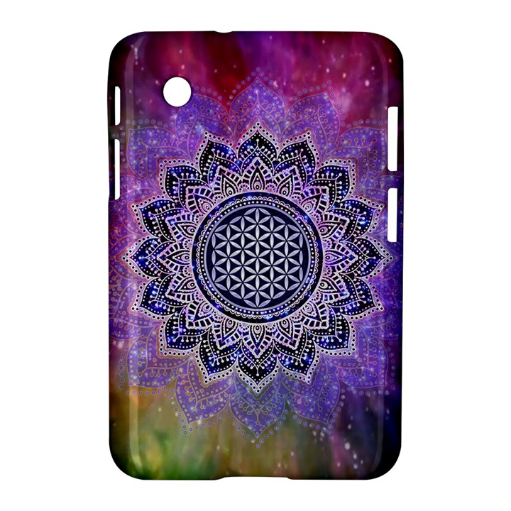 Flower Of Life Indian Ornaments Mandala Universe Samsung Galaxy Tab 2 (7 ) P3100 Hardshell Case