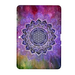 Flower Of Life Indian Ornaments Mandala Universe Samsung Galaxy Tab 2 (10 1 ) P5100 Hardshell Case