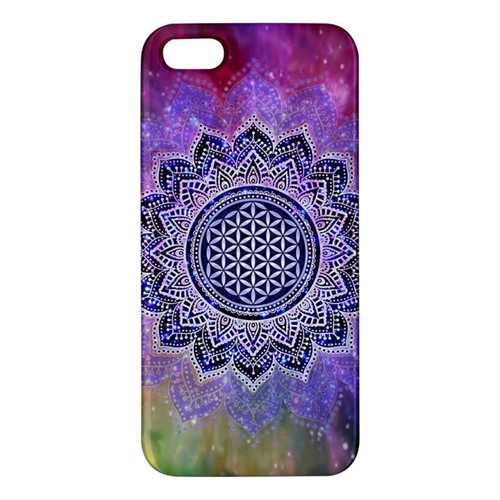 Flower Of Life Indian Ornaments Mandala Universe iPhone 5S/ SE Premium Hardshell Case